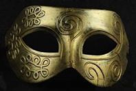 Gold Greek God Mask